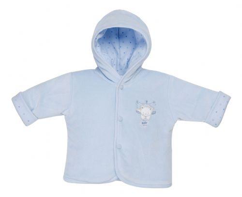 BLUE Premature baby coat in 5-8lb SWEET BEAR