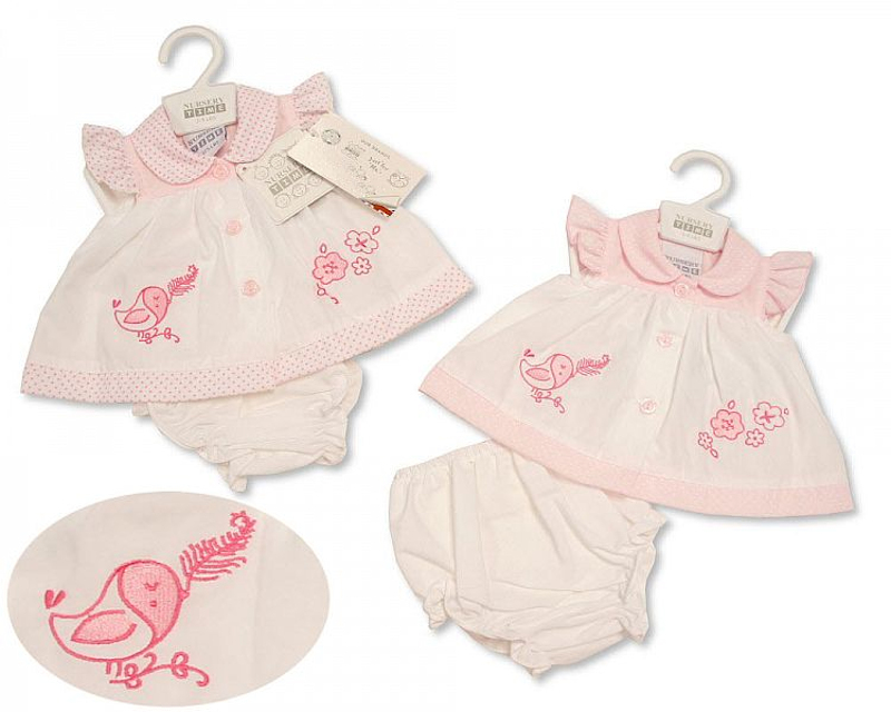 tiny baby dress 3-5lb or 5-8lb  IN FULL BLOOM
