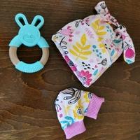 baby hats premature 3-5lb size GENTLE BREEZE pink