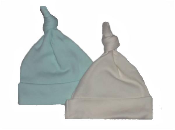 cotton premature baby hat SINGLE KNOT any pastel colour 1-3lb