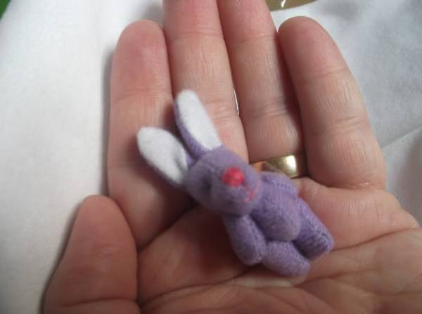 baby stillborn memory box TINY Bunny Rabbit BELLAROO's Little Sis LILAC