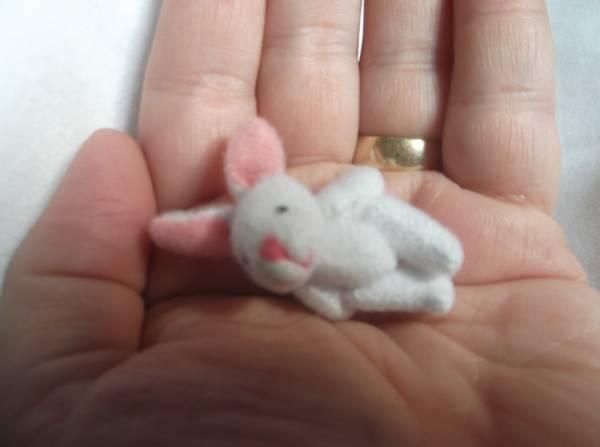 baby stillborn memory box white Bunny Rabbit BELLAROO's Little Sis 3.5cm