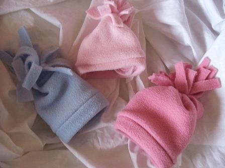 Titch premature baby fleece hats all colours 3-5lb