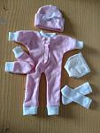 birthed 20 weeks pregnant TRISOMY 18 pink baby bereavement full outfit