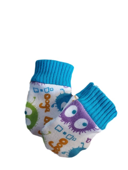 early baby clothes trendy Scratch Mittens uggabuggain Turquoise 2 - 3lb premature
