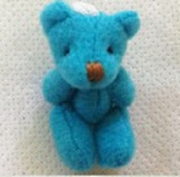 tiny teddy bears baby bereavement memory box TURQOUISE 4cm