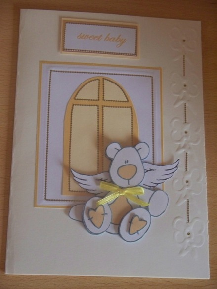 Unisex baby sympathy card condolance card for baby SWEET BABY LEMON