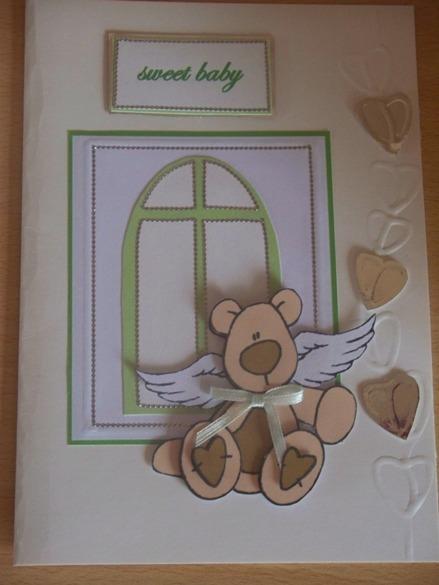 Unisex baby sympathy cards condolance card  SWEET BABY CUDDLY BEAR