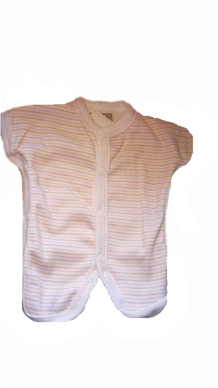 tiny 1lb premature babies clothes PINK PINSTRIPE neonatal rompersuit