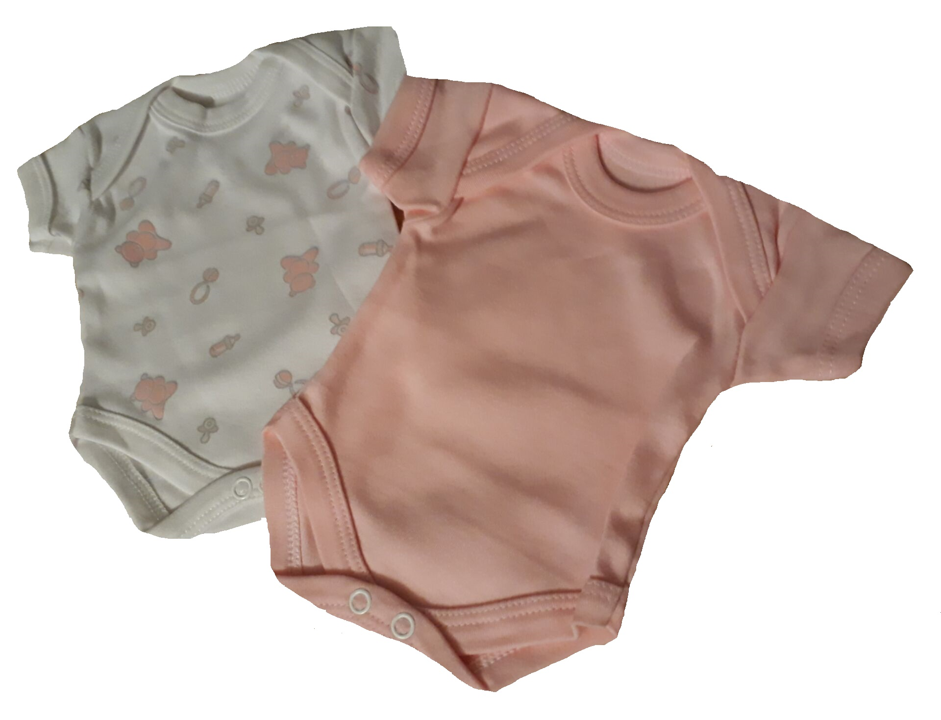 premature baby clothes pack 2 vests bodyvests pink white 3-5lb
