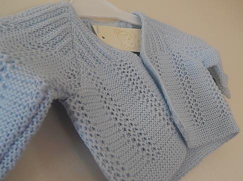 Cosy cardigans 5-8lb blue LITTLE MARVEL