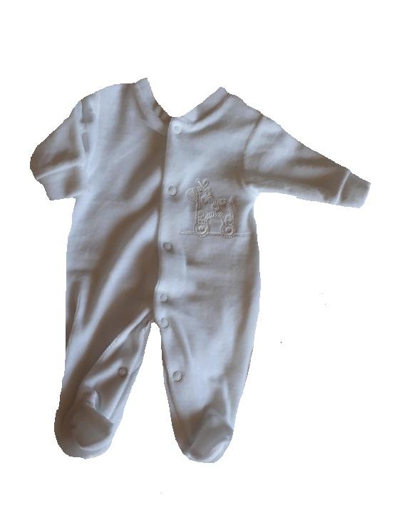 unisex premature baby clothes white Rockabyes babygrow 3-5lb
