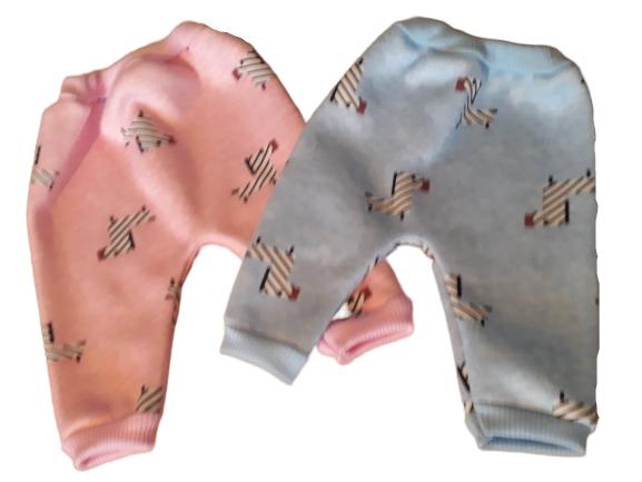 tiny baby clothes little pants boys BLUE 5-8lb size ZIG ZAG ZEBRA