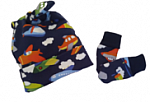early baby clothes hat and mittens size 2-3lb colourful ZOOM boys